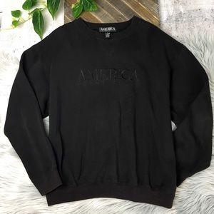 Perry Ellis America Sweatshirt Oversized Small